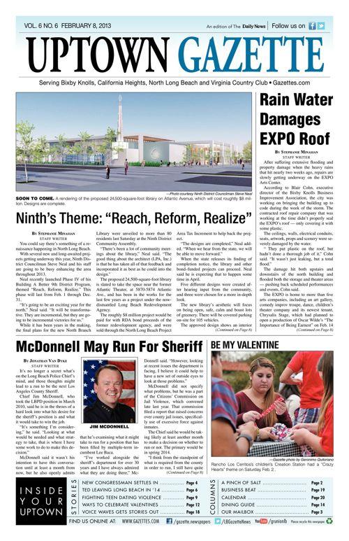 Uptown Gazette     February 8, 2013