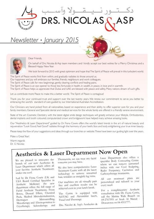 DNA January 2015 Newsletter
