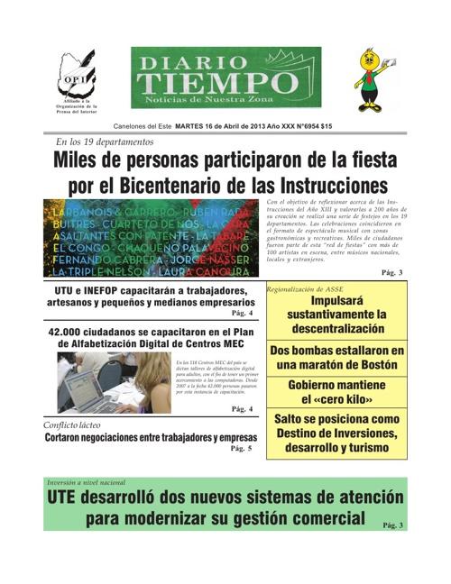 Diario Tiempo - 17 de Abril de 2013