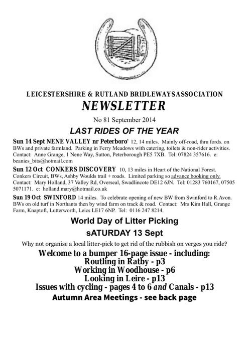 No 81 sept 2014 newsletter