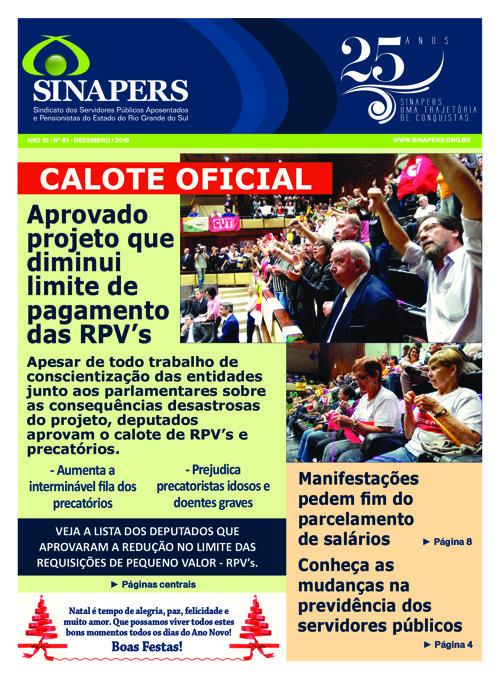 Copy of SINAPERS - Ano 10 | Nº59 Março 2015