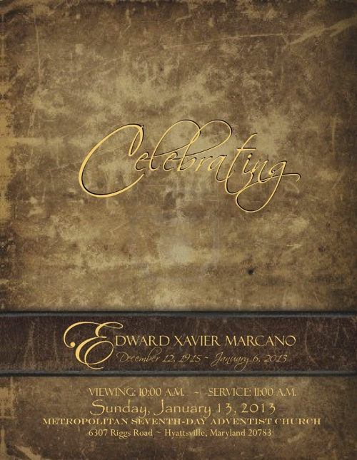 Edward Marcano Funeral Brochure