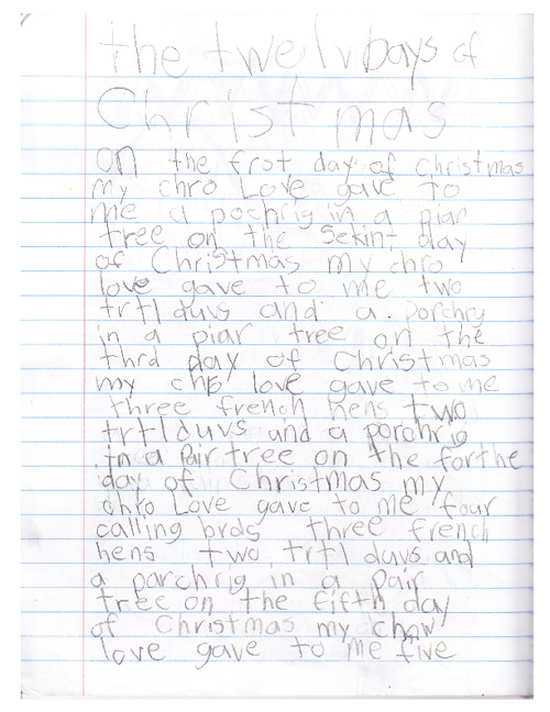 12 Days of Christmas - By Ella Y.