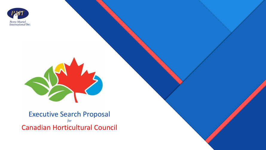 Canadian Horticultural Council - Executive Search Proposal
