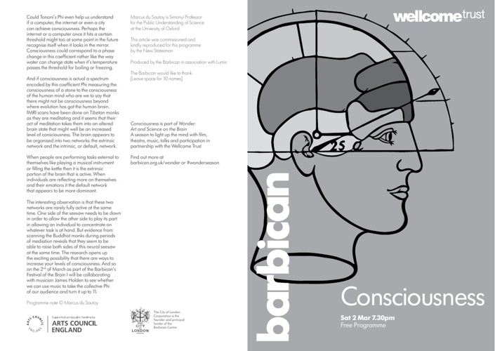 2013 Consciousness Programme
