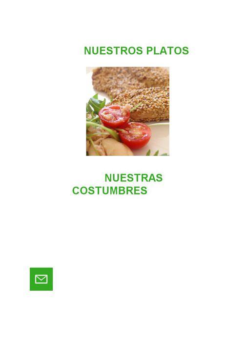 Nuestros platos, nuestras costumbres