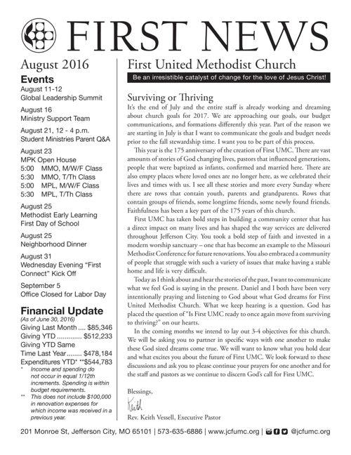 First News August 2016