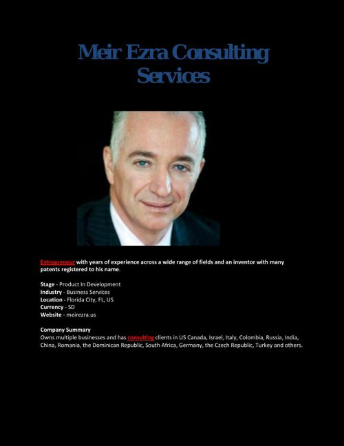 Meir Ezra Consulting Services