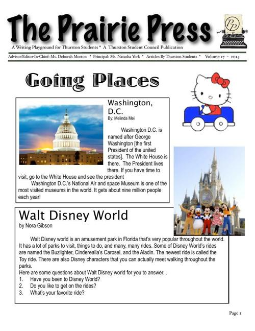 Prairie Press Newspaper vol 17