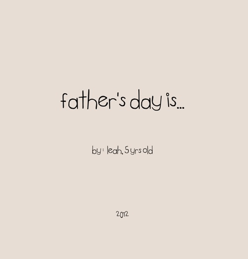 Father's Day Quote Book - AB Photography