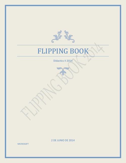Flipping Book 2014