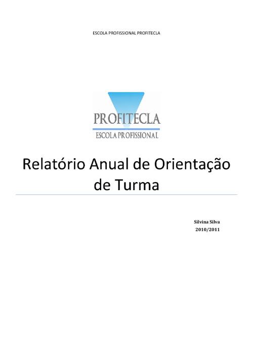 Relatório Anual de orientação educativa