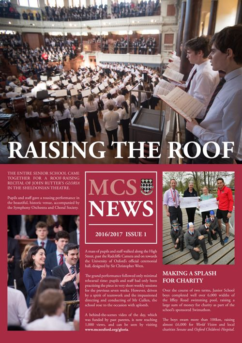 MCS Newsletter 2016/17 Issue 1
