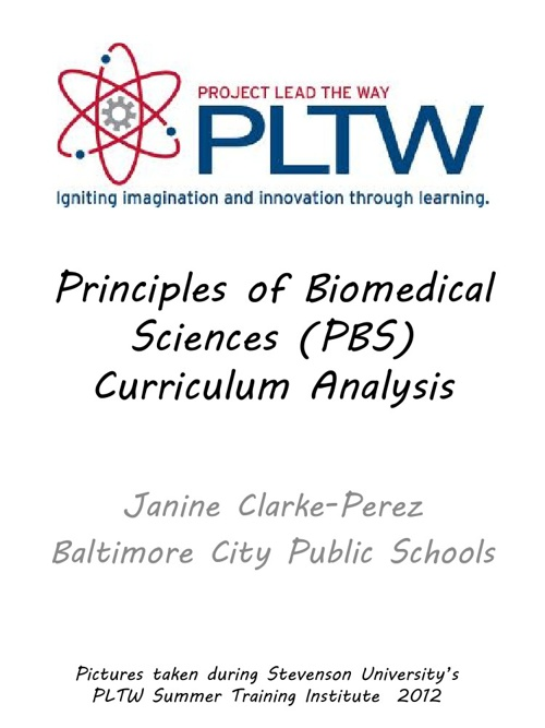 Principles of Biomedical Sciences Curriculum Analysis
