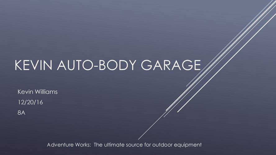 Kevin auto-body Garage