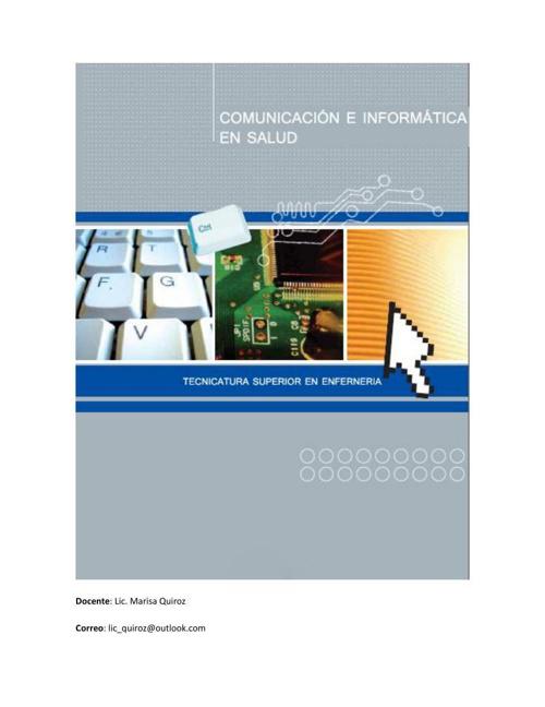 COMUNICACION E INFORMATICA EN SALUD 2014
