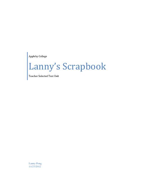 Lanny's scrapbook