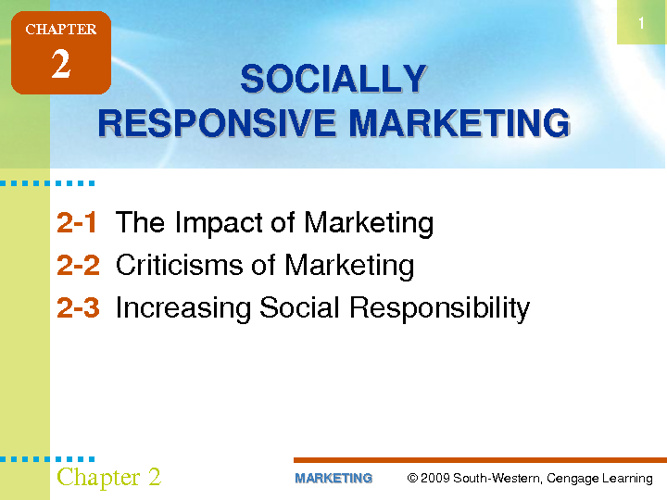 Socially Responsive Marketing