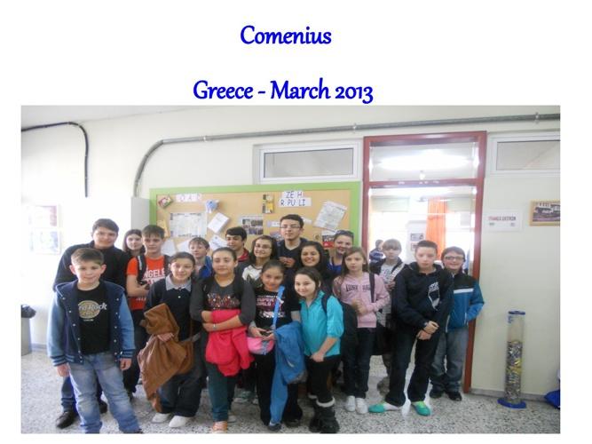 Comenius excursion Greece March 2013