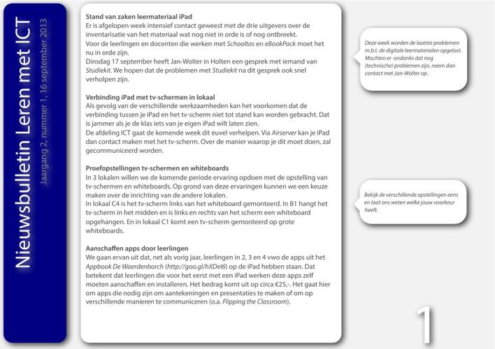 Nieuwsbulletin Leren met ICT, jaargang 2, nummer 1