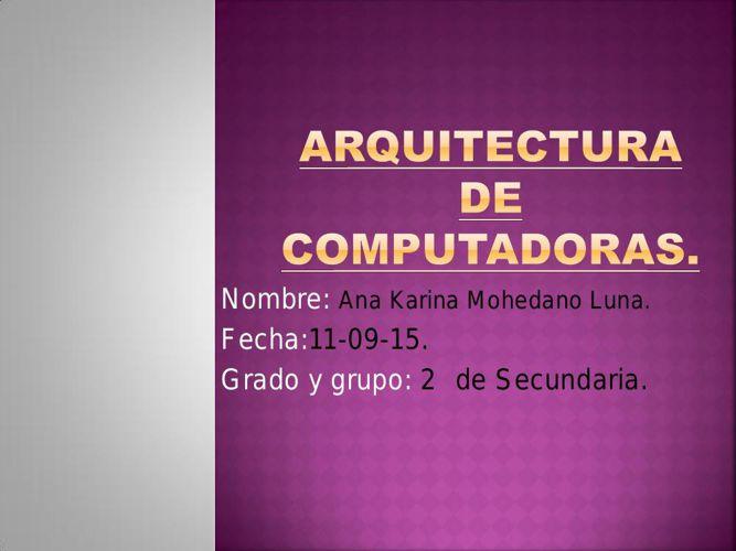 arquitectura de computadoras 6