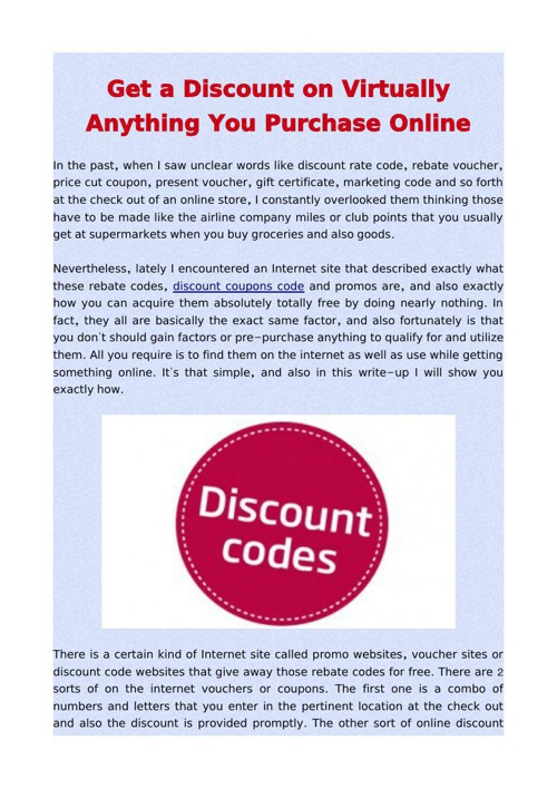 Get a Discount on Virtually Anything You Purchase Online