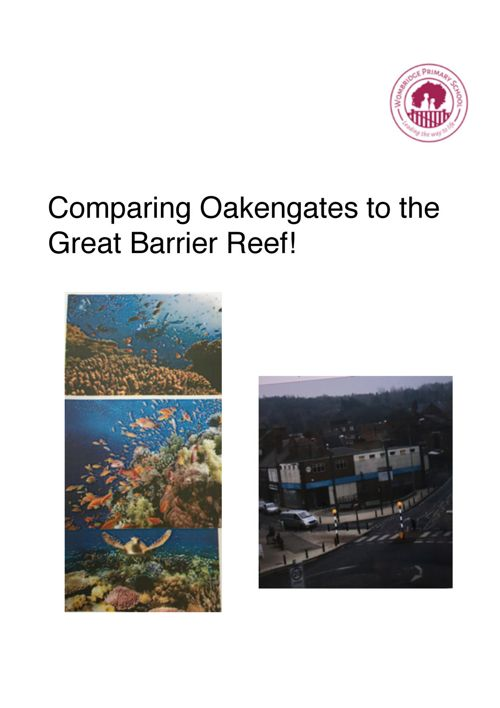 wk5 topic- comparing Oakengates to Great Barrier Reef!