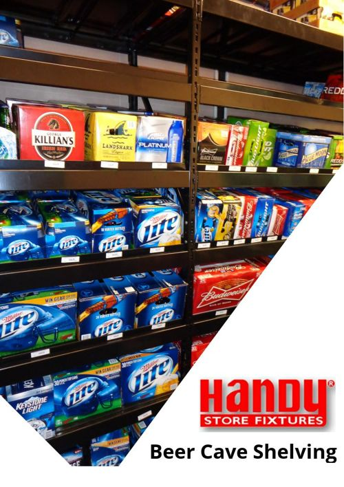 Handy Store Fixtures Beer Cave Shelving
