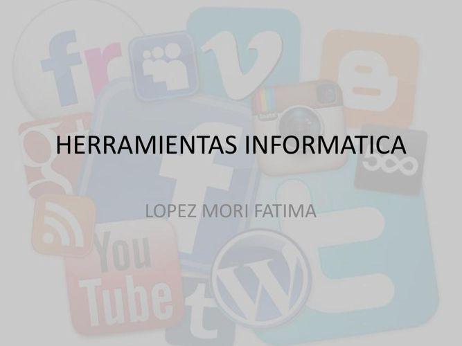 HERRAMIENTAS INFORMATICA