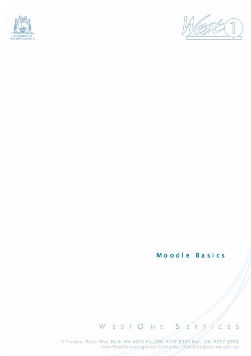 Using moodle (westone)