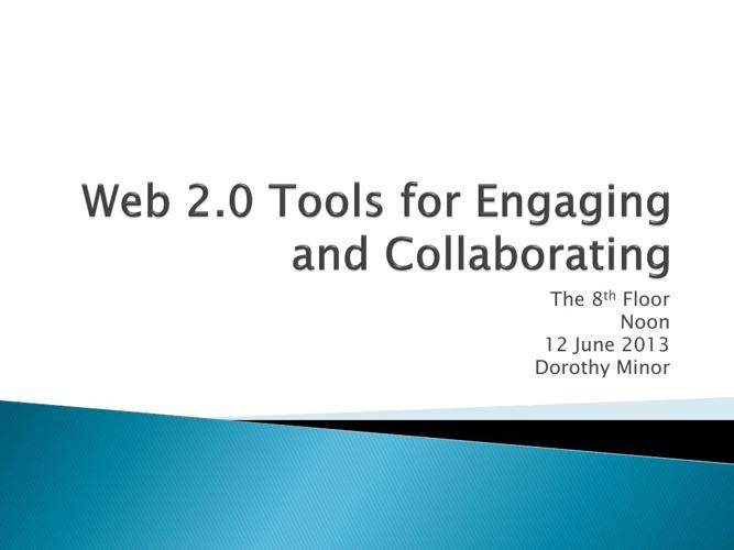 Web 2.0 Tools Volume I