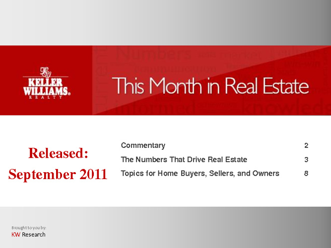 This Month in Real Estate - September 2011