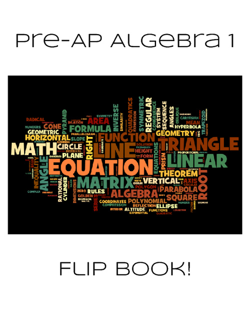 Pre-AP Algebra 1 FlipBook