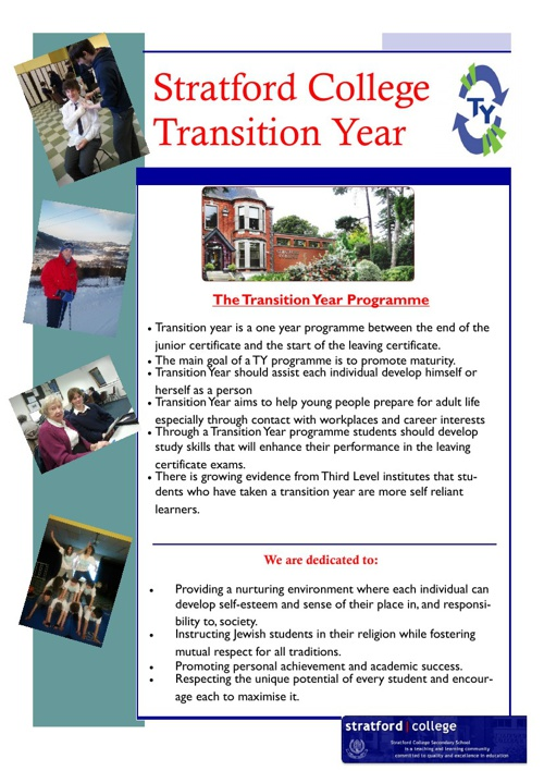 Stratford College TY Programme. Dec. 2013