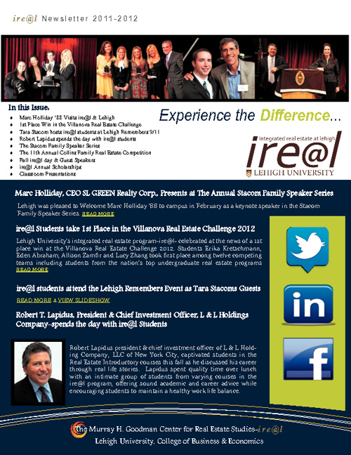 ire@l Newsletter 2012-2013