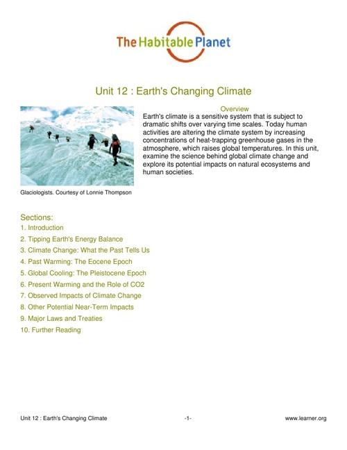 Habitable Planet_Climate Change