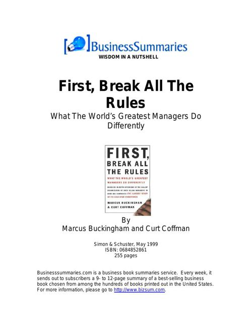 First,BreakAllTheRules_BIZ