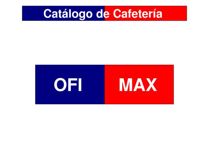 Catálogo de Cafetería Ofimax