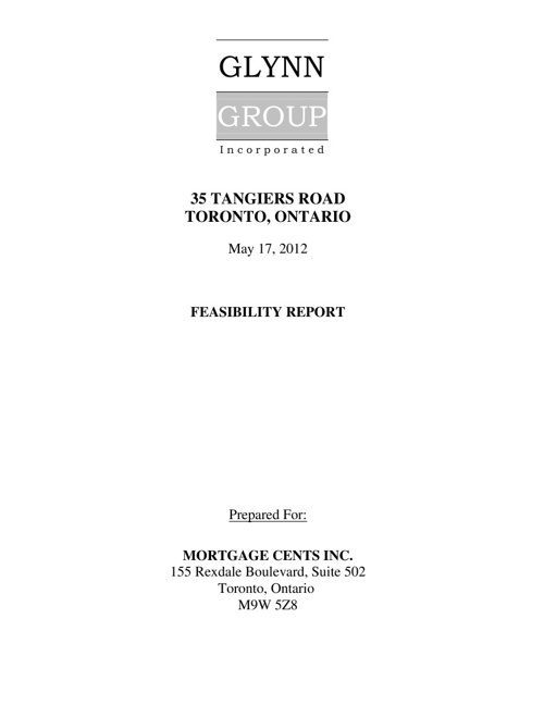35 Tangiers Road - Feasibility Report