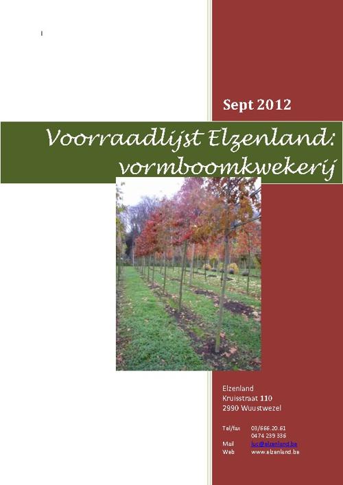 voorraadlijst sept 2012