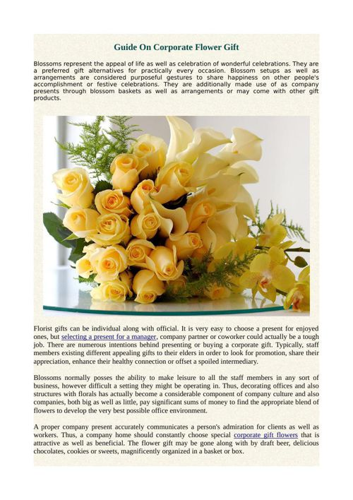 Guide On Corporate Flower Gift