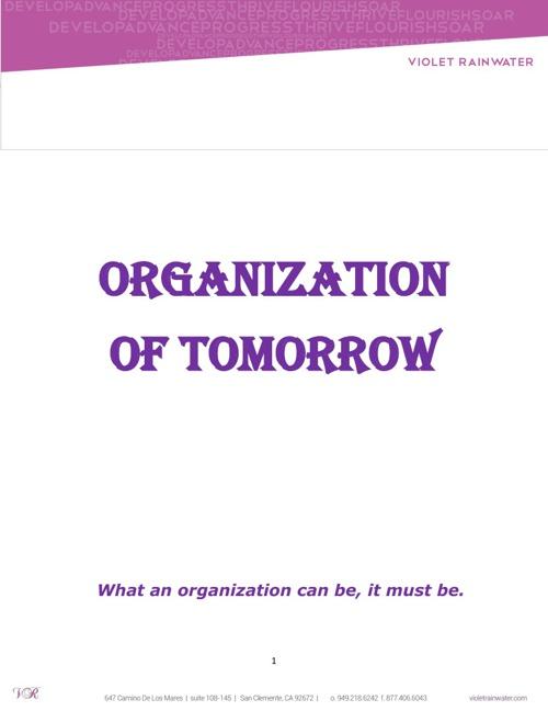 ORGANIZATION OF TOMORROW