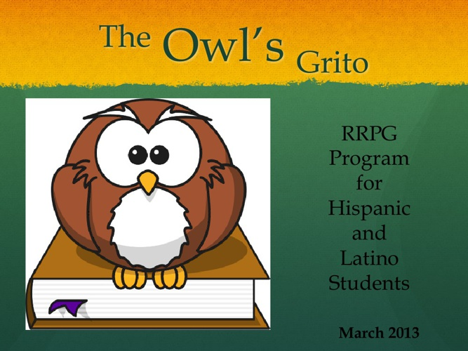 RRPG The Owl's Grito March Newsletter