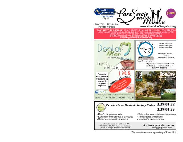 Para Servir en Morelos - Junio 2012