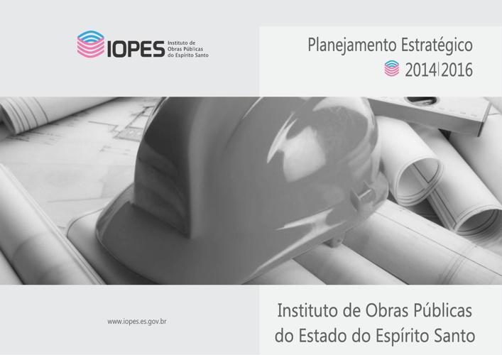 LIVRO PLANEJAMENTO ESTRATÉGICO - IOPES - 2014/2016