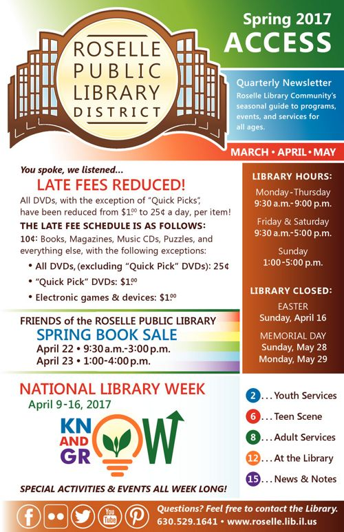 Roselle Public Library: Access - Spring 2017