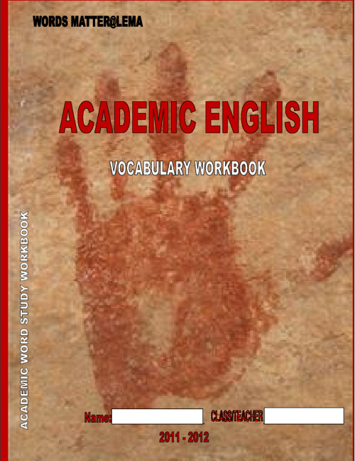 ACADEMIC WORD STUDY WORKBOOK: Lists 1-3