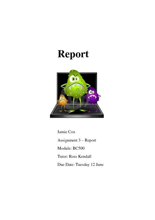 Report - Jamie Cox