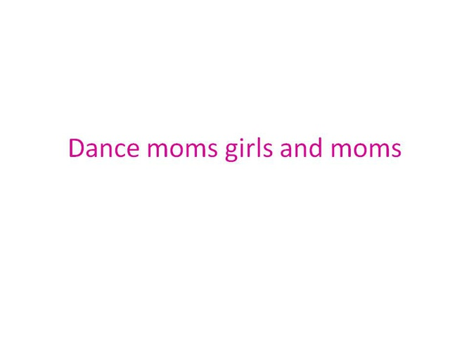 Good Dance Moms Book
