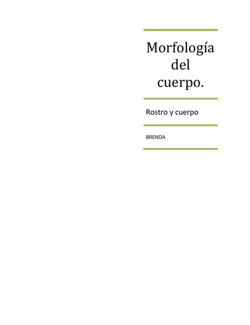 Morfología del cuerpo